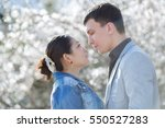 Attractive Couple In Blossomin...