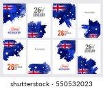 happy australia day celebration ... | Shutterstock .eps vector #550532023