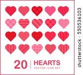 20 lovely hearts  decoration... | Shutterstock .eps vector #550536103