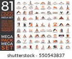 mega set and big group  real... | Shutterstock .eps vector #550543837