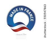 made in france flag blue color...
