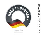 made in germany flag black...
