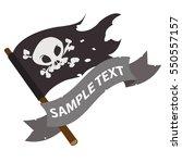 Black Jolly Roger Pirate Flag...