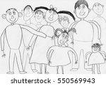 "children's drawing ""my family""  ... | Shutterstock . vector #550569943"