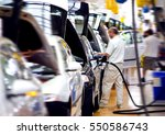 work at big car factory industry | Shutterstock . vector #550586743