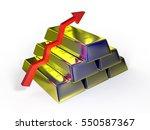 gold bars on white background... | Shutterstock . vector #550587367