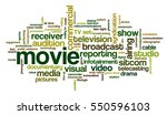 word cloud related to tv... | Shutterstock .eps vector #550596103