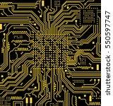 high tech circuit board vector...   Shutterstock .eps vector #550597747