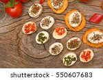 appetizers cheese and...   Shutterstock . vector #550607683