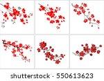 vector illustration. set of... | Shutterstock .eps vector #550613623