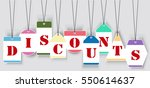 vector sale tags   labels.... | Shutterstock .eps vector #550614637