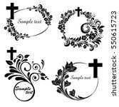 obituary notice   art deco... | Shutterstock . vector #550615723