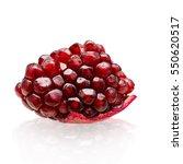 ripe pomegranate fruit isolated ... | Shutterstock . vector #550620517