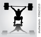 weightlifter is sitting with... | Shutterstock .eps vector #550621213