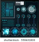 futuristic user interface.hud... | Shutterstock .eps vector #550631833