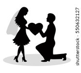 the black silhouette of a bride ... | Shutterstock .eps vector #550632127