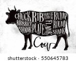 poster beef cutting scheme... | Shutterstock . vector #550645783