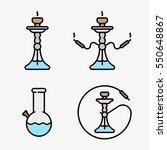 hookah shisha smoking pipe bong ... | Shutterstock .eps vector #550648867