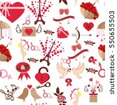 valentine day 14 february icons ... | Shutterstock .eps vector #550655503