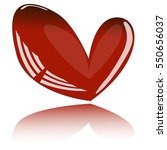 glass red heart. vector design. ...