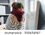 Sick Businesswoman With Winter...