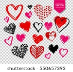 vector hand drawn collection of ... | Shutterstock .eps vector #550657393