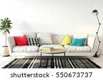 mock up wall interior. wall art.... | Shutterstock . vector #550673737