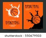 design for basketball. set... | Shutterstock .eps vector #550679503