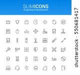 minimalistic slim line gaming   ...   Shutterstock .eps vector #550681417