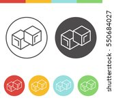 vector set of ice cubes icons... | Shutterstock .eps vector #550684027