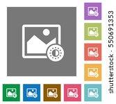 adjust image saturation flat... | Shutterstock .eps vector #550691353
