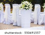 decorations for the wedding... | Shutterstock . vector #550691557
