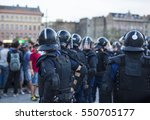police on standby against mass...   Shutterstock . vector #550705177
