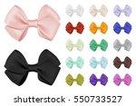 vector realistic bow set.... | Shutterstock .eps vector #550733527