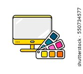 printed and polygraphy product. ... | Shutterstock .eps vector #550734577