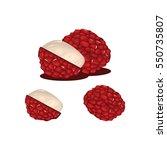 lychee fruit fresh realistic...   Shutterstock .eps vector #550735807