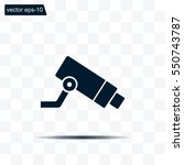 video surveillance cctv camera  ... | Shutterstock .eps vector #550743787