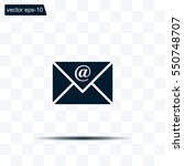 email   vector icon | Shutterstock .eps vector #550748707