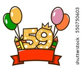 happy birthday. figure one with ... | Shutterstock .eps vector #550750603