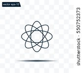 pictograph of atom | Shutterstock .eps vector #550752373