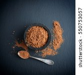 cocoa powder in a bowl with... | Shutterstock . vector #550753057