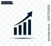 vector growing graph icon   Shutterstock .eps vector #550753303