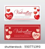 happy valentine day  gift... | Shutterstock .eps vector #550771393