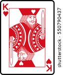 king of hearts | Shutterstock .eps vector #550790437