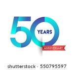 fifty years anniversary... | Shutterstock .eps vector #550795597