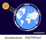 earth atmosphere and uv from... | Shutterstock .eps vector #550799167