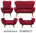 armchairs and sofa in red... | Shutterstock .eps vector #550808527