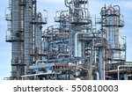 close up oil and gas refinery... | Shutterstock . vector #550810003