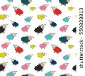 abstract lamb seamless pattern... | Shutterstock .eps vector #550828813