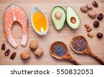 selection food sources of omega ... | Shutterstock . vector #550832053